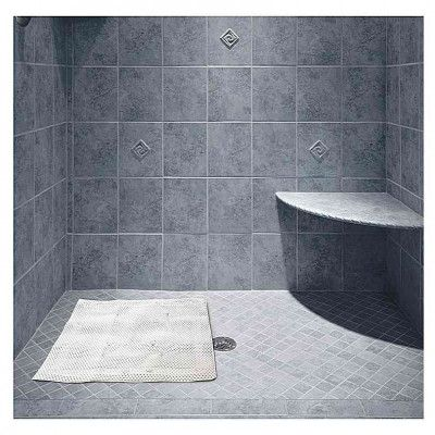 Great for #walk-in #showers, this #Non-Slip #Shower #Mat features a #cushioned mat made of #durable, #soft material and built-in #suction cups.