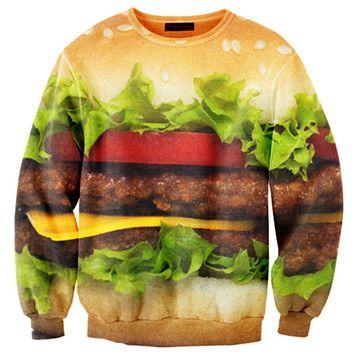 Hamburger Sweater Unisex now featured on Fab.