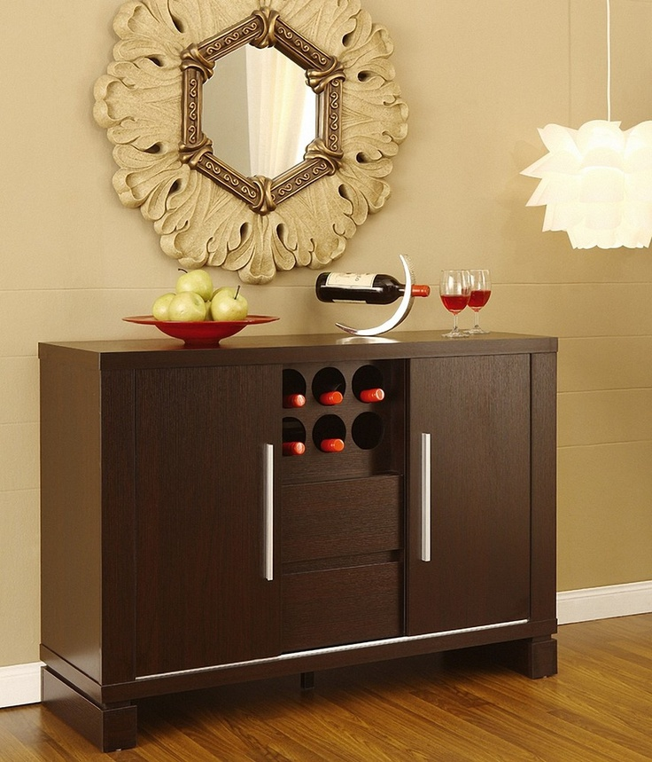 Furniture Of America Serrano Cappuccino Finish Dining Buffet By