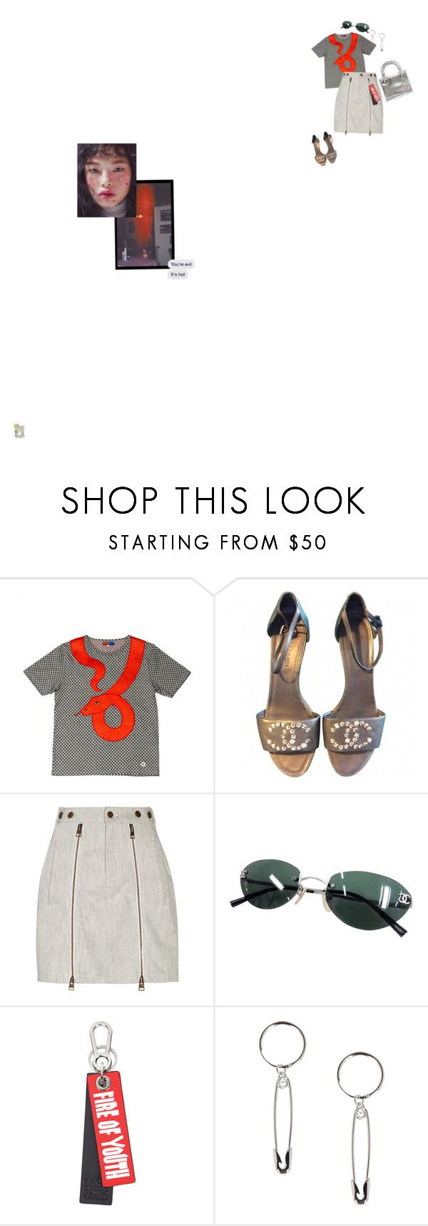"""""""Untitled #2842"""" by duumbblond ❤ liked on Polyvore featuring Opening Ceremony, Chanel, J.W. Anderson, Loewe, Eyland and Christian Dior"""