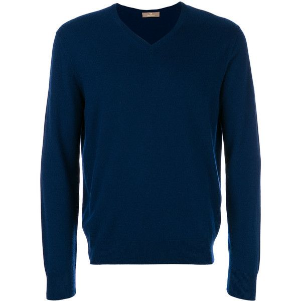 Cruciani classic V-neck sweater (1.605 BRL) ❤ liked on Polyvore featuring men's fashion, men's clothing, men's sweaters, blue, mens vneck sweater, mens blue sweater, mens v-neck cashmere sweaters, mens navy blue v neck sweater and mens cashmere sweaters