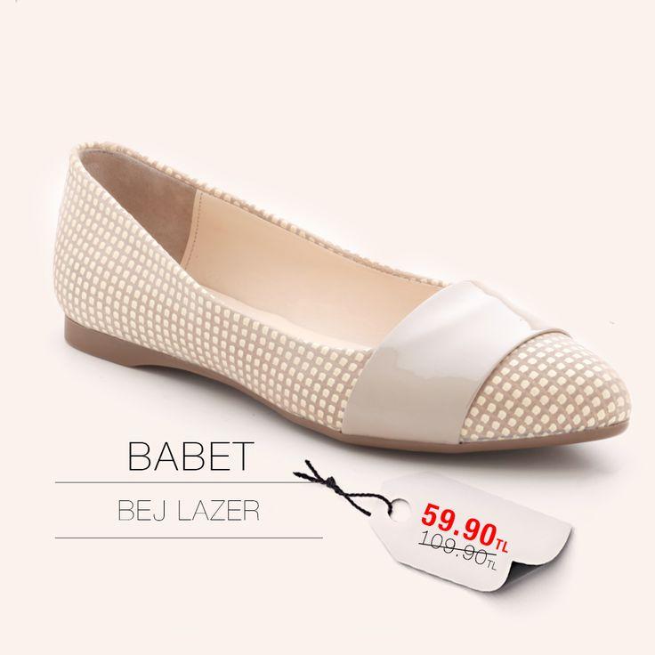 Bej Lazer Babet 59.90TL http://www.modsimo.com/fmzc~u~bej-lazer-babet-oxford-bayan-ayakkabi-5803
