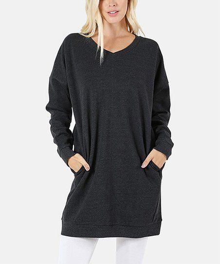 Ash Gray Sweatshirt Tunic | zulily