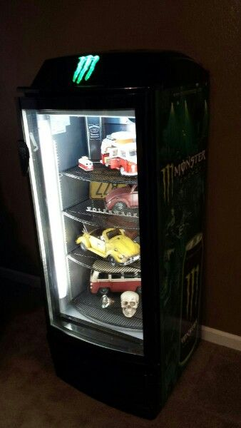Monster Fridge Turned Display Case Display Case