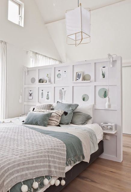 Dormitorio con estilo n rdico via miblog dividir - Cama estilo nordico ...