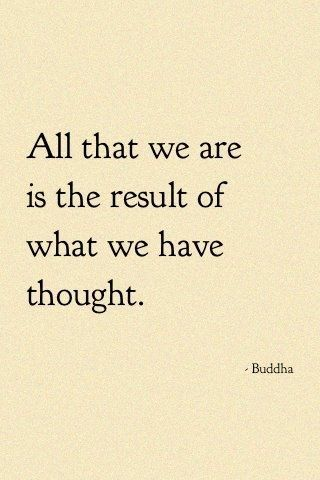 Be sure to think positive thoughts.