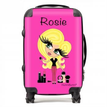 HunniBunni Babes Personalised Hot Pink Background Suitcase