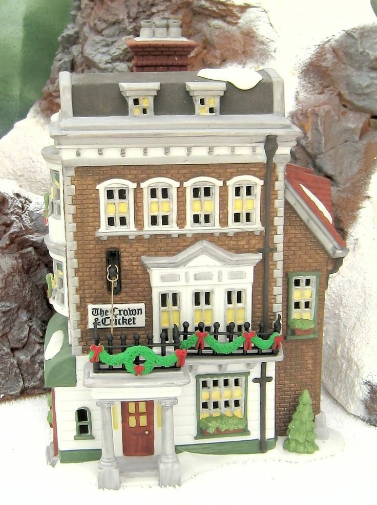 Dept 56 Crown Cricket Inn W Signed History Brouchere Of Jeannie Marie Dickens Dickens Village Christmas Villages Christmas Village