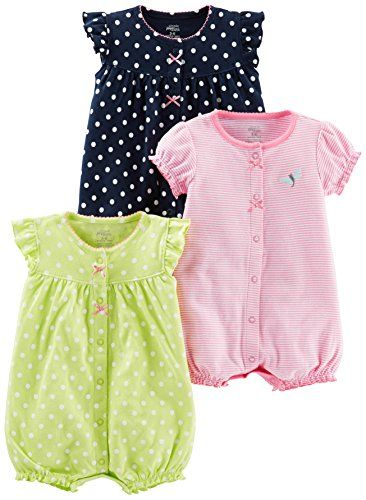 962646fe148 Simple Joys by Carter s Girls  3-Pack Snap-up Rompers