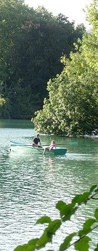 Barque sur le lac du PArc de la Tête d'Or