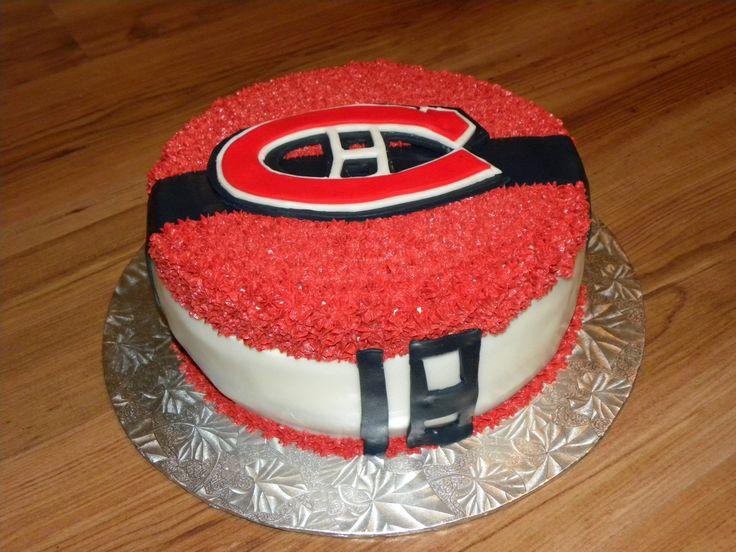 Gâteau des Canadiens LNH/NHL Montreal Hockey Team cake