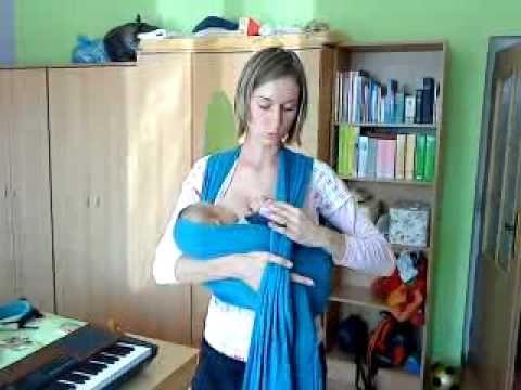 Ako ošatkovať dieťatko na prsníku - How to wrap your baby while nursing - YouTube