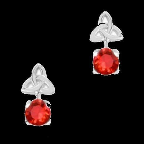 For Everything Genealogy - Celtic Birthstone Trinity Knotwork January Stone Sterling Silver Earrings, $40.00 (http://www.foreverythinggenealogy.com.au/celtic-birthstone-trinity-knotwork-january-stone-sterling-silver-earrings/)
