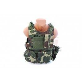 8Fields vesta tactica AAV FSBE Woodland - Veste Tactice - Articole Vestimentare - Echipament Tactic