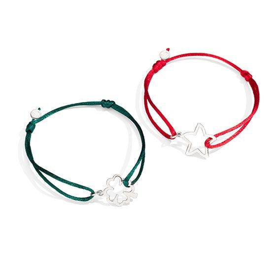 Discover the new Dodo cords in red and green nuance.  Create your bracelet with the silver Silhouette charms.