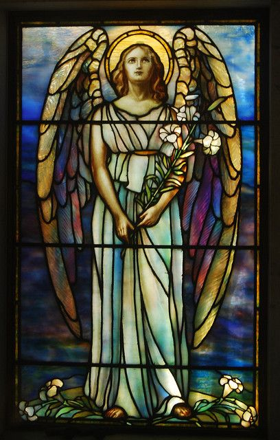Rock Creek Cemetery - mausoleum's stained glass window by tiz_herself on Flickr.