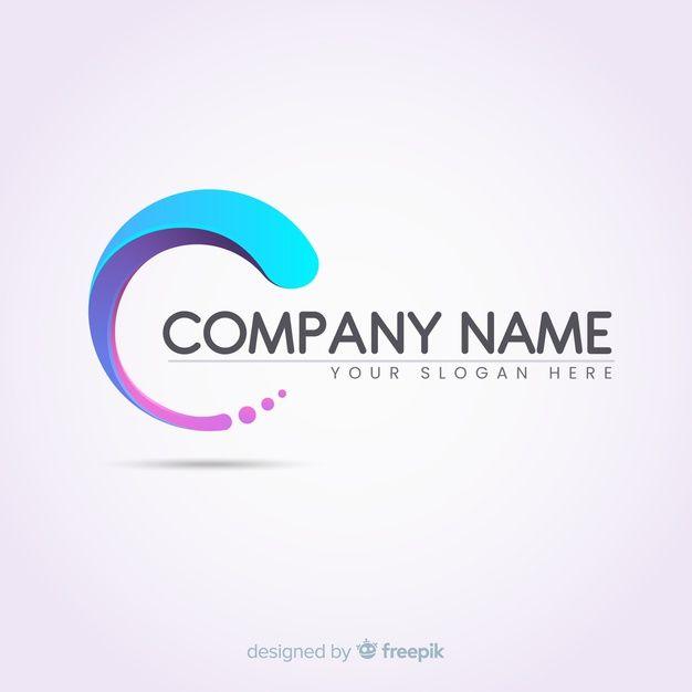 Farbverlauf Logo Vorlage Mit Abstrakten Form Logo Templates Abstract Logo Text Logo Design