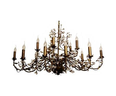 Kroonluchter Evita Brown Super Deluxe Modern Chandelier, 15 lampen