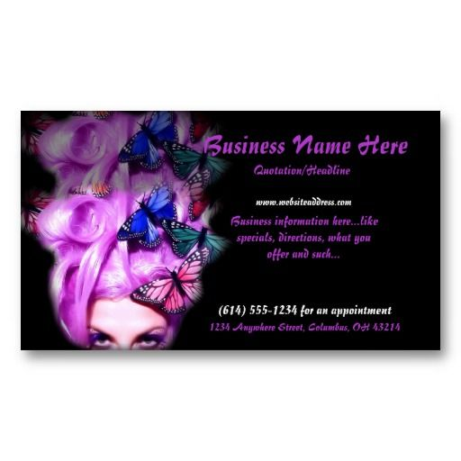Best Business Cards Beauty Makeup Images On Pinterest - Hair stylist business cards templates