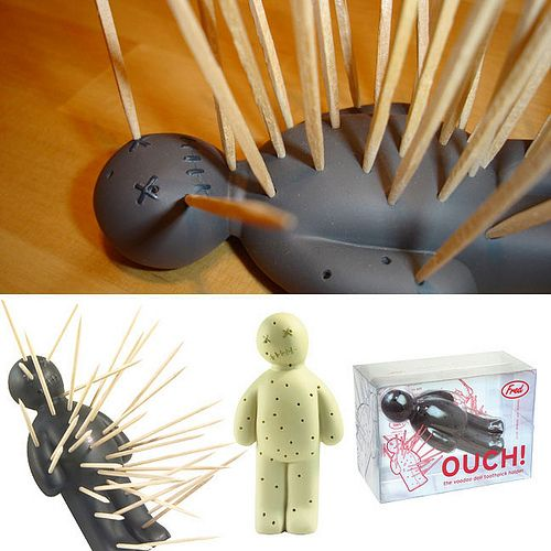 Voodoo!Halloween Parties, Ouch Toothpick, Dolls Toothpick, Kitchens Dining, Products Design, Kitchens Gadgets, Toothpick Holders, Fred Ouch, Voodoo Dolls