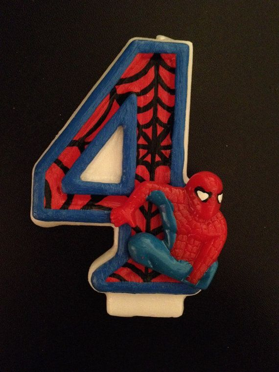 Spiderman Inspired Birthday Candle Spiderman Candles