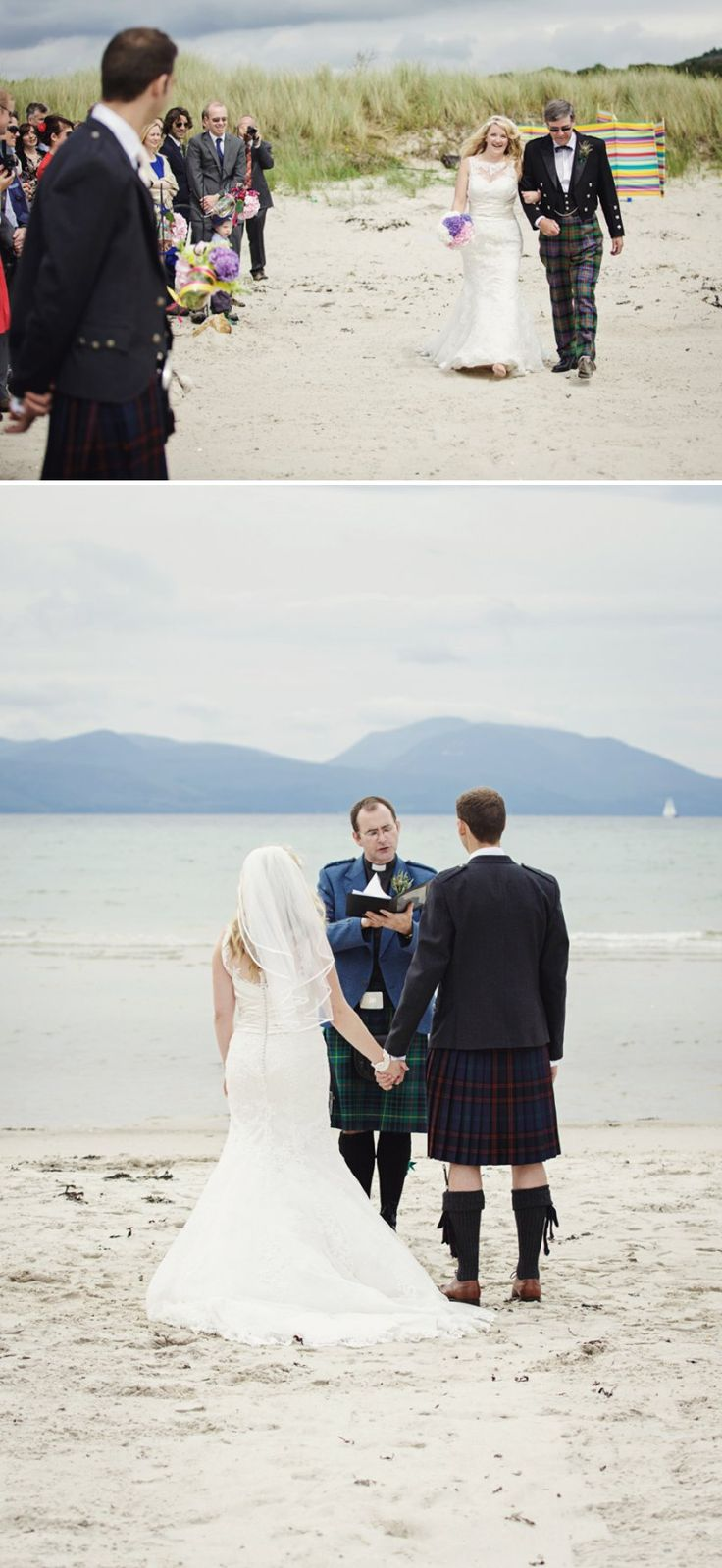beach wedding south west uk%0A Rustic Scottish Beach Wedding With Bride In Justin Alexander And Vivien Of  Holloway And Groom In