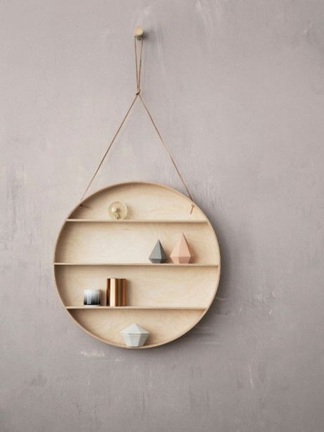 Ferm Living The Dorm Shelving. Very attractive and different! Great way to hold everything from ornaments to jewellery #TrouvaHandpinnedHomewares