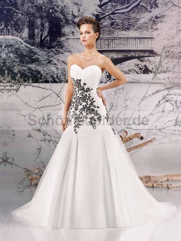 Brautkleid Schwarz Weiss Frisuren Pinterest Wedding Dresses