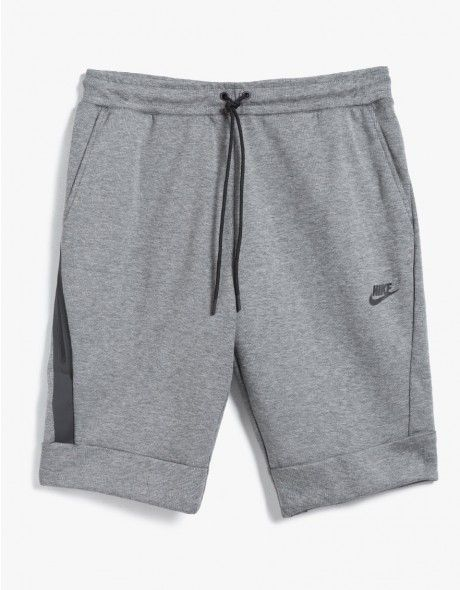 d7c15d55789e7 From Nike, a modern fleece short in Carbon Heather. Featuring an  elasticized waistband with