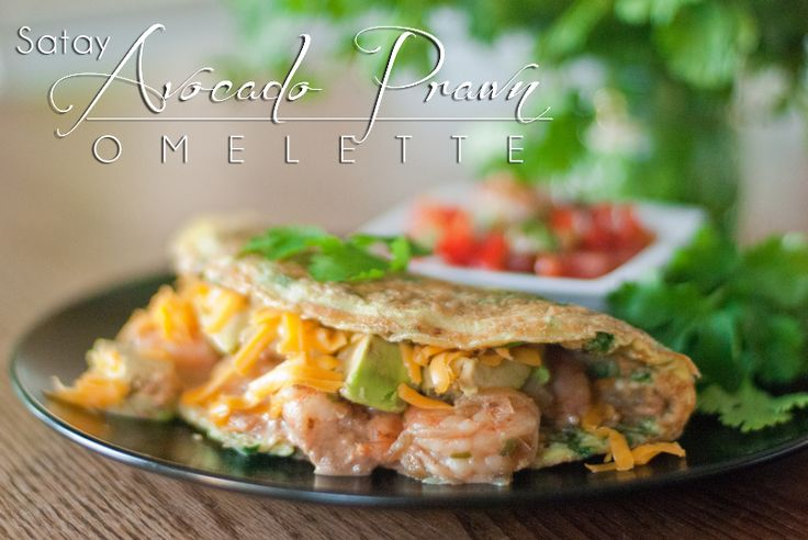 """The flavor combination of the Satay Avocado Prawn Omelette will """"blow your doors off""""! Warning: Food this good needs to come with a warning label. www.ThePrimalDesire.com"""