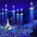 東京・カレッタ汐留が青い世界に包まれるイルミネーション「カノン・ダジュール」のギャラリー画像1