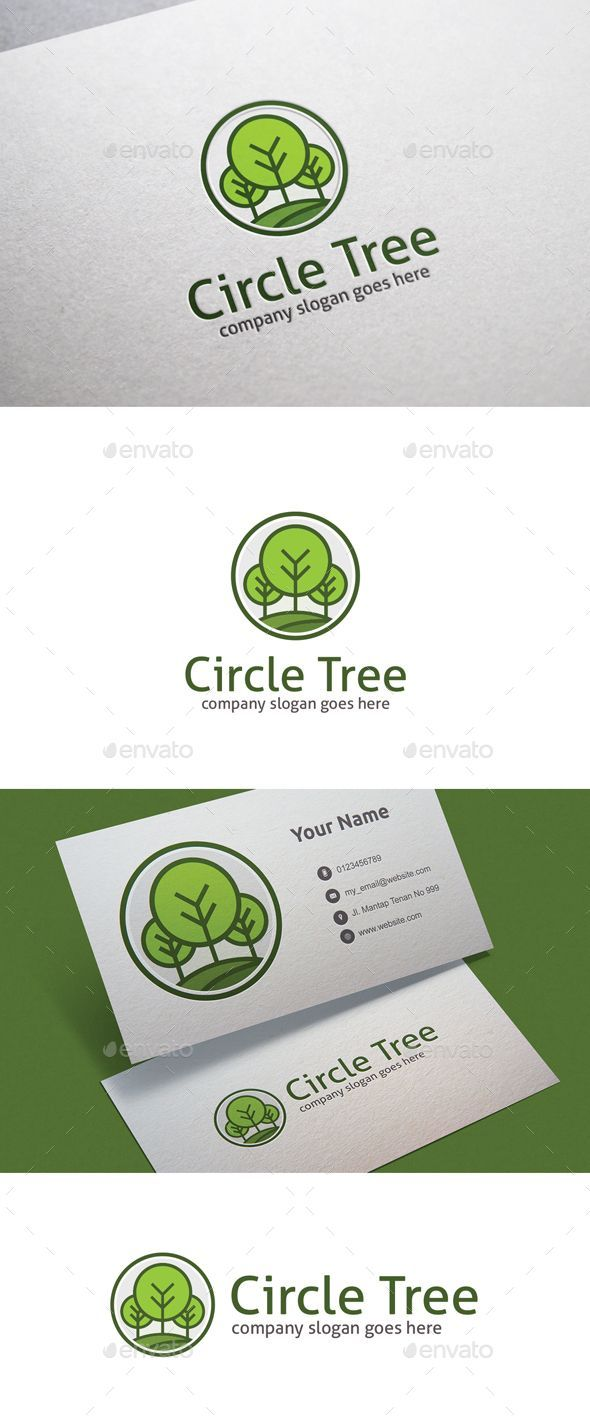 Circle Tree Logo Design Template - Nature Logo Template Vector EPS, AI Illustrator. Download here: https://graphicriver.net/item/circle-tree/18822910?ref=yinkira