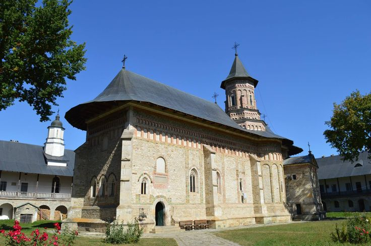Neamț Monastery, Neamț County, Romania.  It was built in the 15th century, and it is an example of medieval Moldavian architecture. A jewel of 15th-century architecture, the church was built during Ştefan cel Mare's reign and finished in the year when the Moldavian army won the battle against King John Albert (1497).