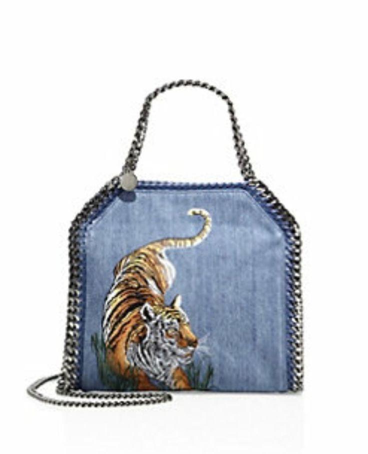 Stella McCartney Mini Falabella Tiger Animal  Denim Tote Bag Blue Amazing! NWT    Clothing, Shoes & Accessories, Women's Handbags & Bags, Handbags & Purses   eBay!