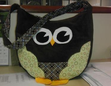 My Corduroy Owl Bag