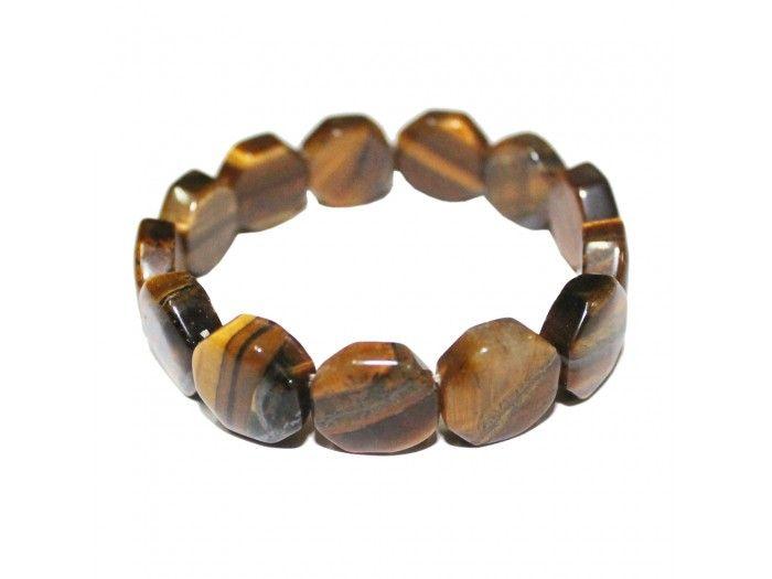 Tiger Eye Bracelet in Octagon Beads, Buy Tiger eye Bracelet online from India.