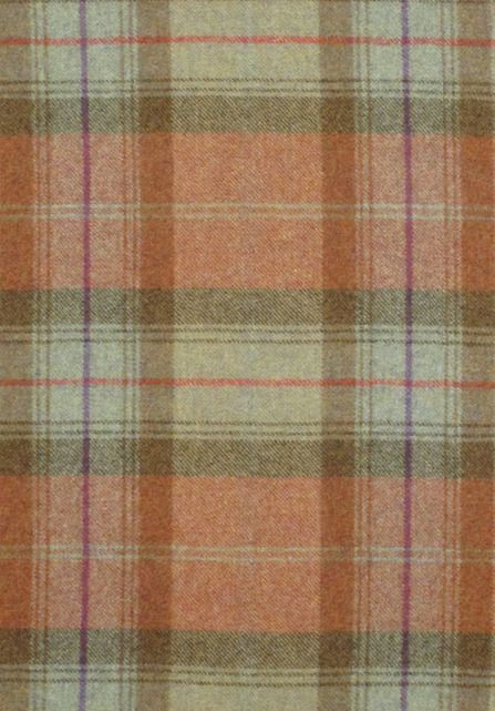 Mellow tartan in rust and olive