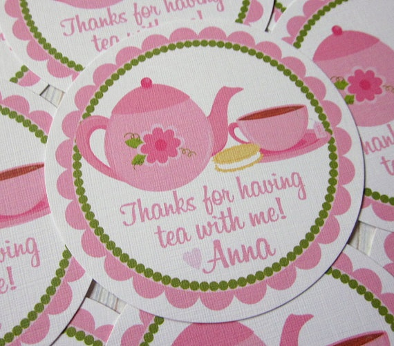 Favor Tags  Tea Party  Coordinating Party Decor by ciaobambino, $5.00