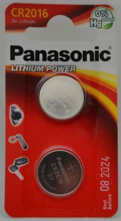 BATTERIA PANASONIC CR2016 LITHIUM 3V