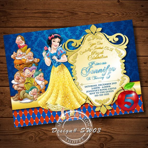 Snow White Invitation, Snow White, Snow, White, Invitations, Snow White Birthday, Snow White Invitations, Snow White Party Invitation by MyCelebrationShoppe on Etsy https://www.etsy.com/listing/253386024/snow-white-invitation-snow-white-snow
