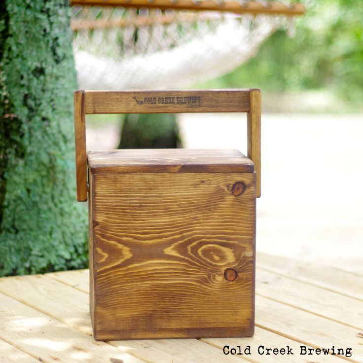 Wood Beer Cooler/Tote With Bottle Opener