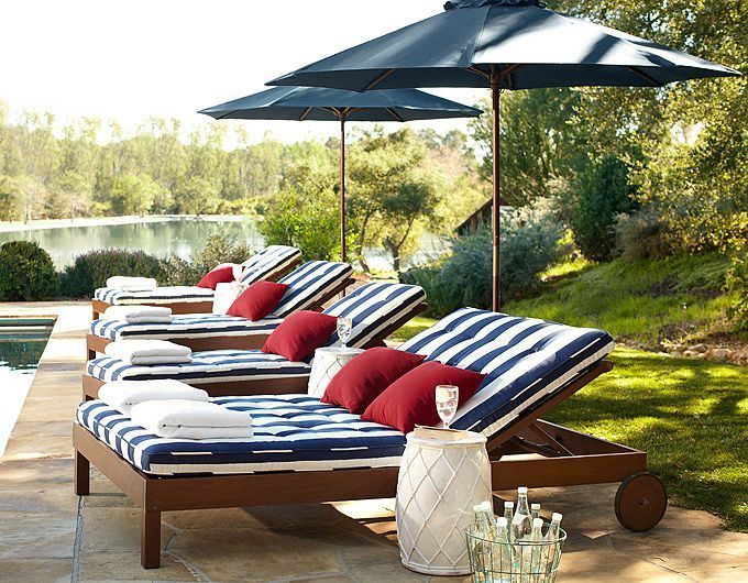 Someday I will own a house with a beautiful pool area! Outdoor Patio Decorating Ideas | Pottery Barn