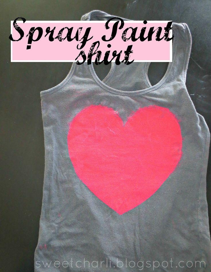 spray paint shirt, cute twist on DIY fabric paint shirts!