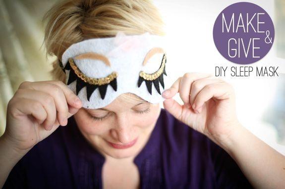Felt Sleep Mask   50 Tiny And Adorable DIY Stocking Stuffers
