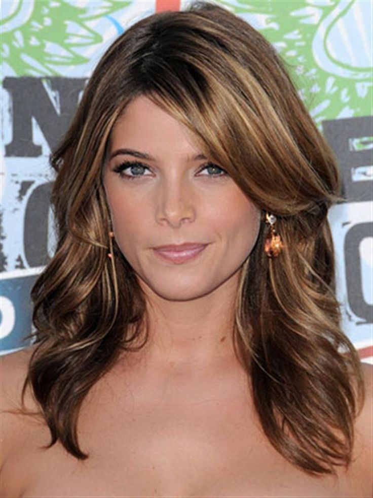 Shoulder Length Hairstyles For Dark Brown Hair : 151 best hair images on pinterest