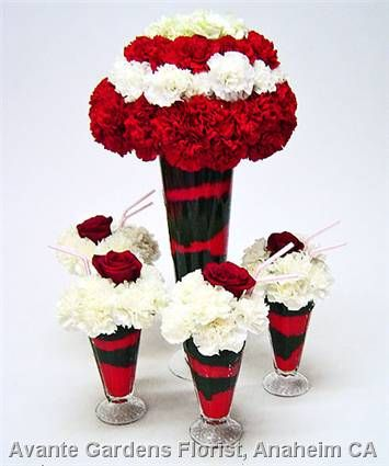 50s wedding theme ideas   ... Gallery - Anaheim, CA : Ice Cream Soda Flowers 50's Theme Party
