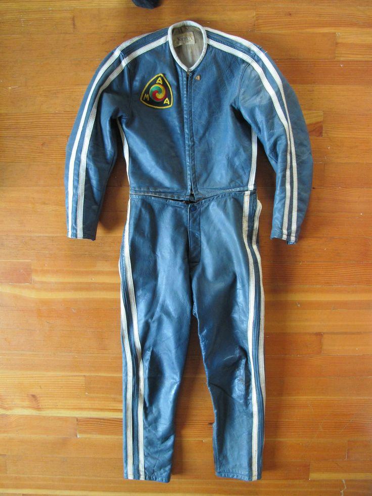 60 S Bates Race Suit Race Jackets Vintage Leather