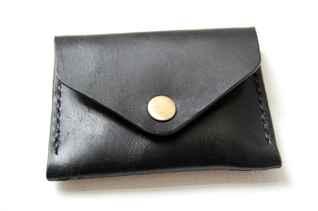 Black Leather Pocket Wallet.