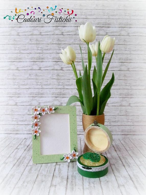 Quilling  Paper  Handmade  Daffodil  Frame  by CadouriFistichii