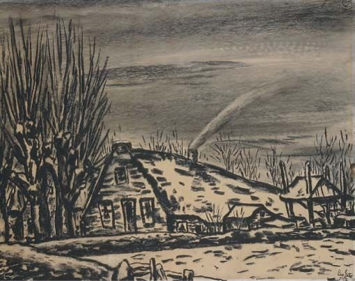 Leo Gestel - A farm in winter